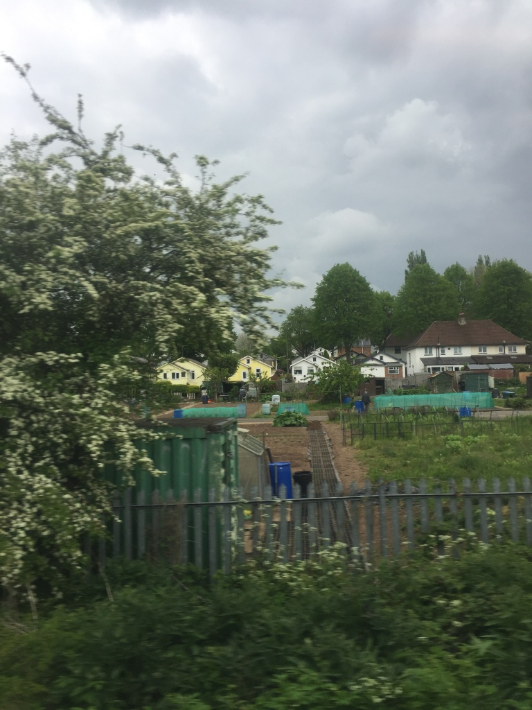 allotment next to a railway line